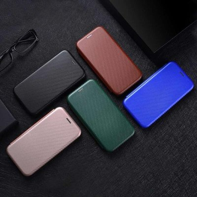 現貨 時尚碳纖維 翻蓋皮套 LG G8S ThinQ 手機殼 掀蓋 保護殼 磁吸 支架 插卡 防滑 防摔 手機套 內置矽膠軟套