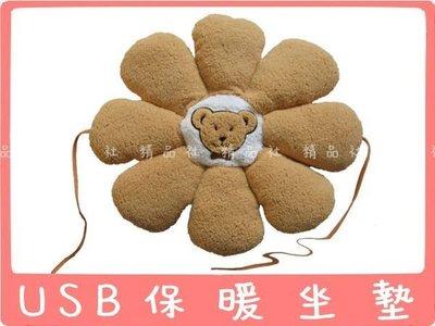 ☆意樂舖☆【花朵保暖坐墊】伊暖兒超柔軟USB座墊/抱枕/午睡枕