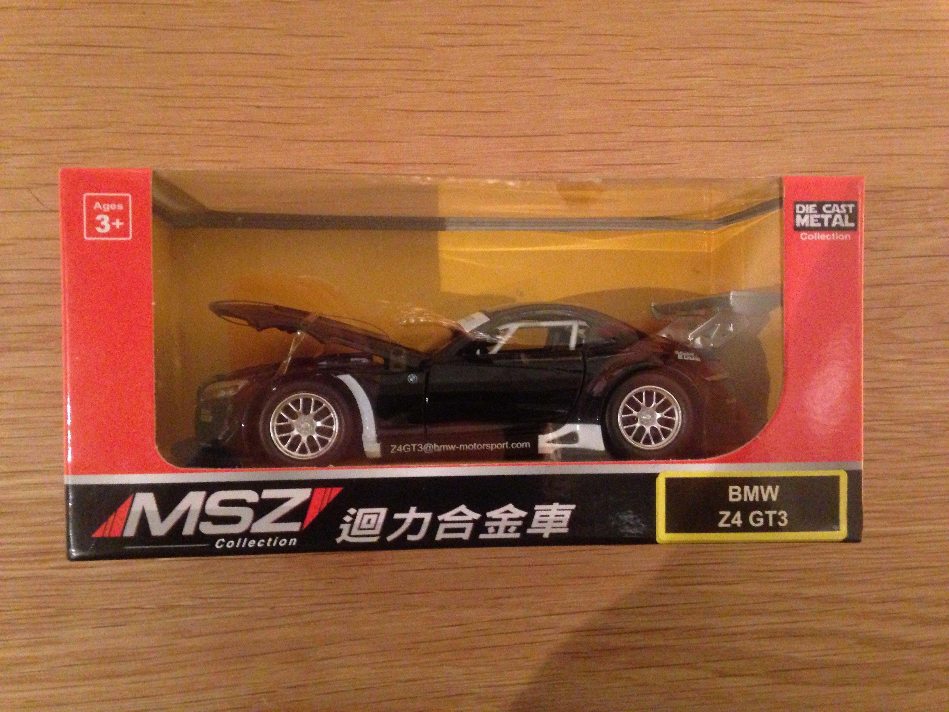 全新 汽車模型 1:32 寶馬 BMW Z4 GT3 賽車 聲光回力車