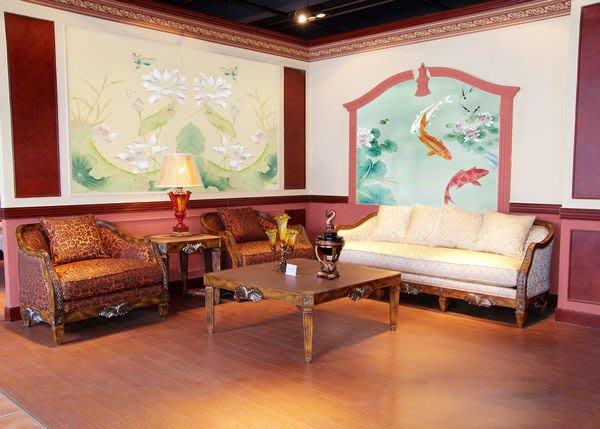 【芮洛蔓 La Romance】 手繪絲綢壁紙 ZW01-038-14 / 壁飾 / 牆紙 / 壁畫