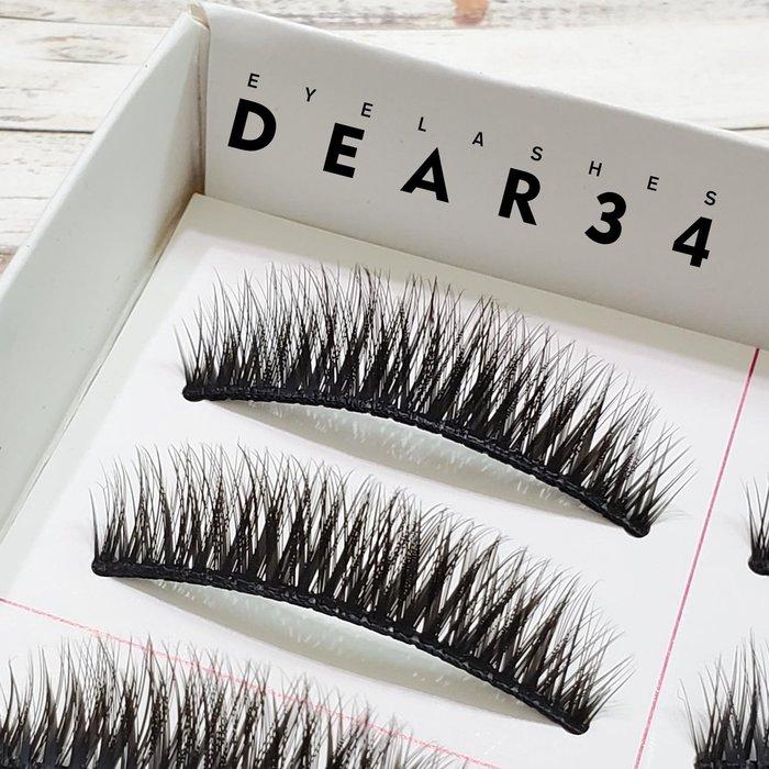 《Dear34》208硬梗眼中長短款濃密假睫毛 一盒十對價