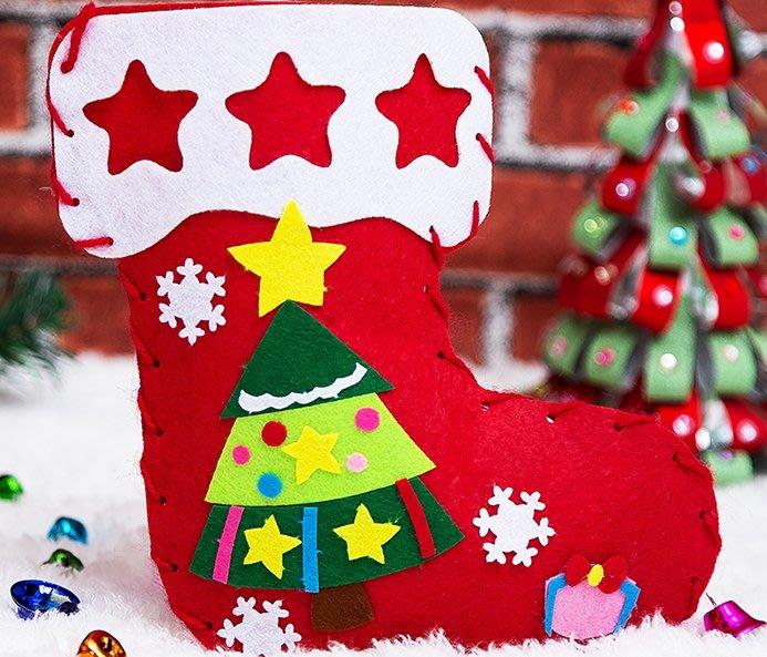 [巨蛋通] 不織布手作 手作聖誕襪 晨光時間 晨光教室 媽媽時間 勞作 聖誕裝飾 手工聖誕裝飾 小一 小二 小三