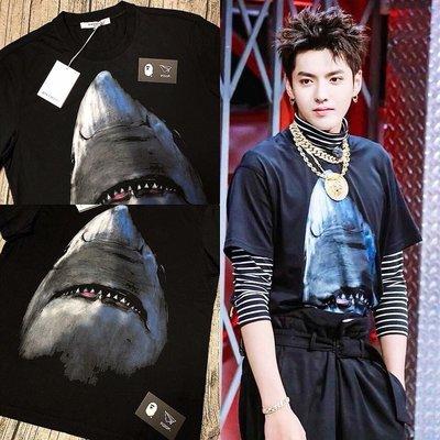 [FDOF] 預購+現貨 Givenchy columbian fit shark tee 鯊魚短袖 修身 吳亦凡實著
