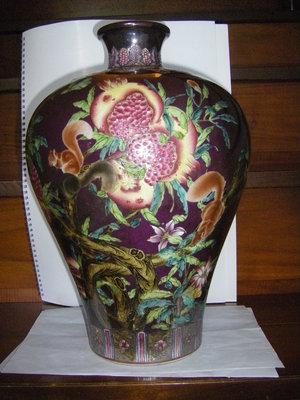 陶木屋  瓷瓶  長36 寬26 公分