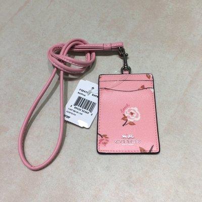 Melia 米莉亞代購 COACH 2020ss 識別證套 證件套 悠遊卡套 F26654 基本款 粉色 玫瑰花圖案