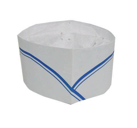 ☆°萊亞生活館 °A072日式廚師帽(低)-紙帽.船形帽【白色/藍色條紋】1頂/10元