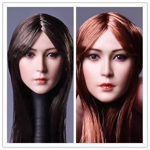 James room#DSTOYS D008 1/6美女頭雕 亞洲植髮美女頭雕適合嵐包膠素體 兩款可選