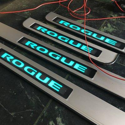 NISSAN ROGUE專用LED踏板 門檻條 冷光踏板 迎賓踏板