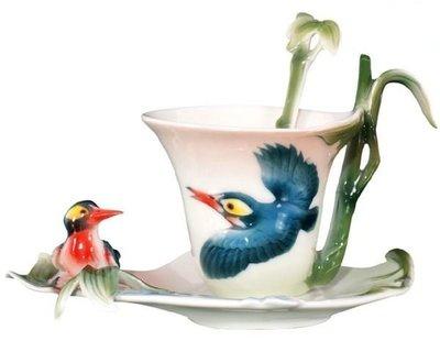 喜鵲迎春 喜鵲杯 杯盤匙組 (一組) 花茶杯咖非杯 下午茶