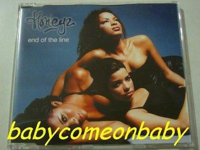 舊CD英文單曲-Honeyz蜜糖合唱團-End of the line-混音單曲4首Made in Germany(保存良好無刮傷近全新)
