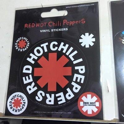 英國版限量 貼紙 Red Hot Chili Peppers