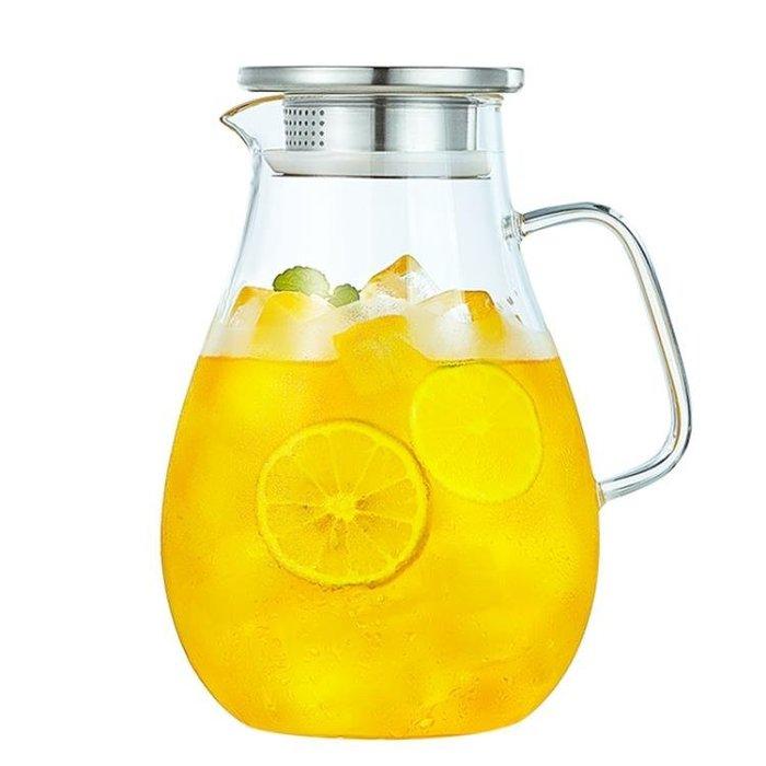 家用冷水壺防爆耐熱高溫玻璃涼水壺晾涼開水杯大容量果汁扎壺