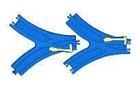 PLARAIL_R-12 8字型叉軌_TP 11120日本TOMY多美火車鐵道王國 永和小人國玩具店