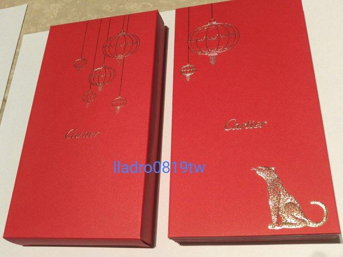 全新(單張區)Cartier 卡地亞 紅包袋 燈籠金豹/黑豹2款/萬事勝意金豹 精品名牌(另LV Swarovski