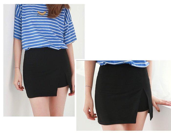 【Hao Da】全館399免運↘「M~XL。現貨」甜美 開岔假兩件短裙褲裙 (P1011)