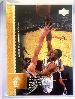NBA老卡 96  upper deck all star base card #66(alonzo mourning)