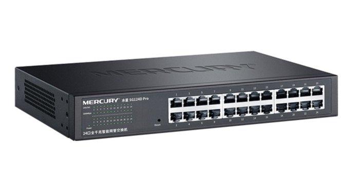 鋼殼 SG124D Pro 智慧型 網管交換器 24埠 24口 1000M Giga Switch HUB 交換機 水星