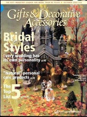 【語宸書店G637/雜誌】《Gifts & Decorative Accessories-2003年10月》Reed Business Information