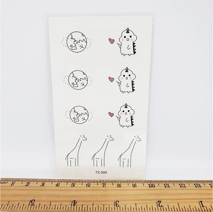 【萌古屋】獨家款星球長頸鹿 - 男女防水紋身貼紙原宿刺青貼紙TZ-504 K62