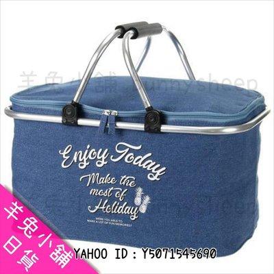 【日本 便利攜帶 箱型保溫 保冷袋 可摺疊收納 大款】Z19398 羊兔小舖 日貨 日本代購 旅行提袋 野餐提袋 野餐籃
