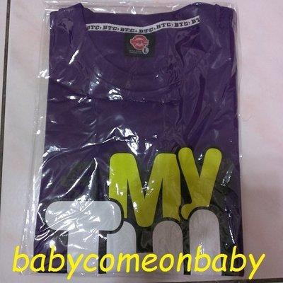 衣服 BTC 短袖 T恤 SIZE L號 紫色 MY THIRST (全新未穿過) 原價490元