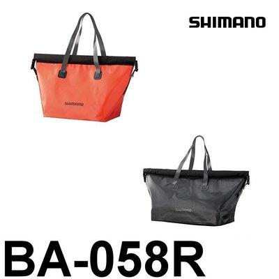 源豐網路釣具 - SHIMANO 18年 防水拖特包/防水背包/側背包 BA-058R