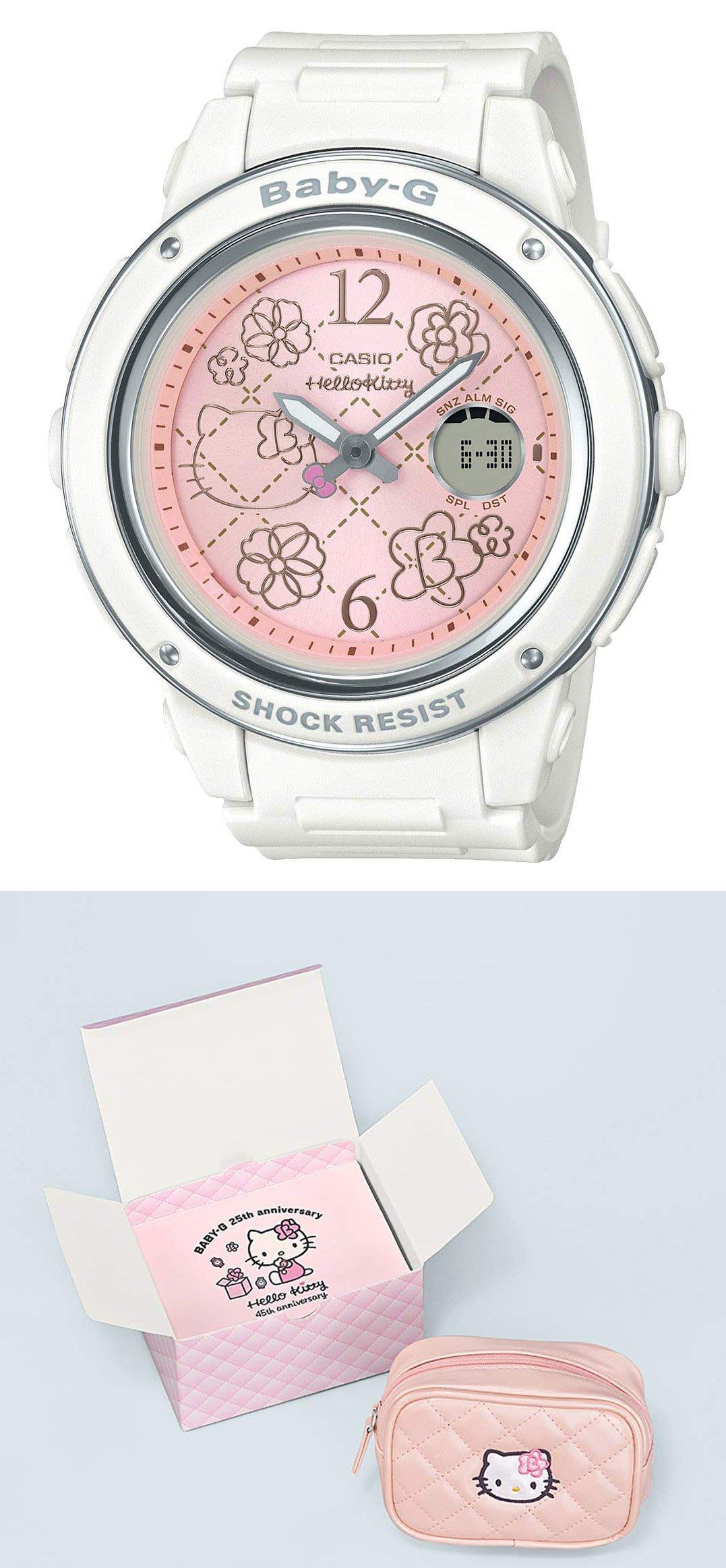 日本正版 CASIO 卡西歐 Baby-G BGA-150KT-7BJR HELLO KITTY 女錶 手錶 日本代購