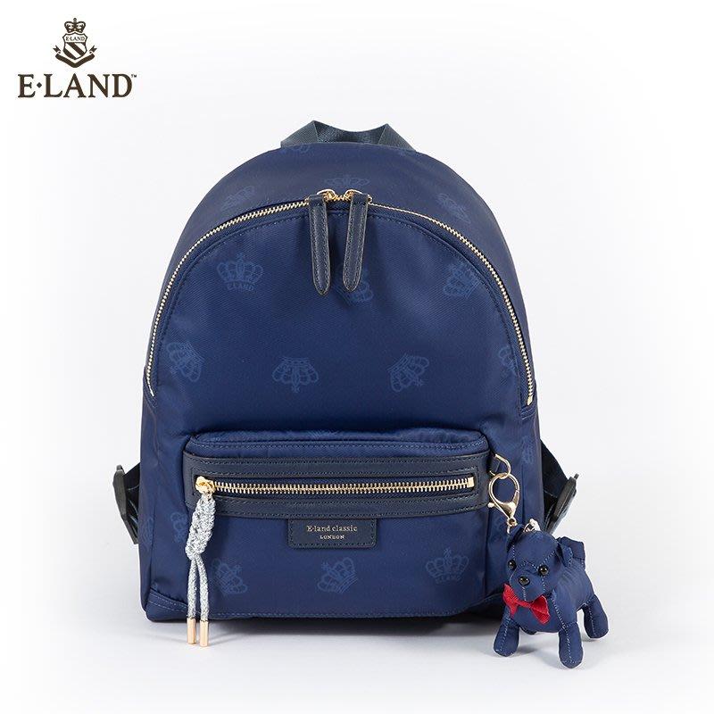 登山背包ELAND夏季新款學院風萌寵裝飾雙肩背包女EEAKAS304M