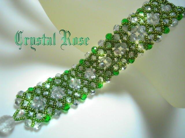 ※水晶玫瑰※ 韓國~璀璨琉璃手鍊(HAND2)~雙面皆可配戴