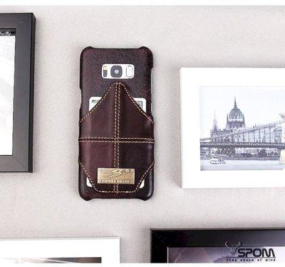 Samsung S8 Plus G955FD 頭層牛皮真皮 原廠背蓋後殼後蓋背殼 手機殼皮套保護套保護殼M0092