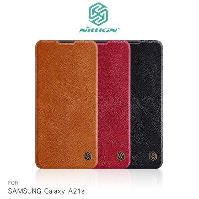 強尼拍賣~NILLKIN SAMSUNG Galaxy A21s 秦系列皮套  可插卡 高出鏡頭 無磁吸