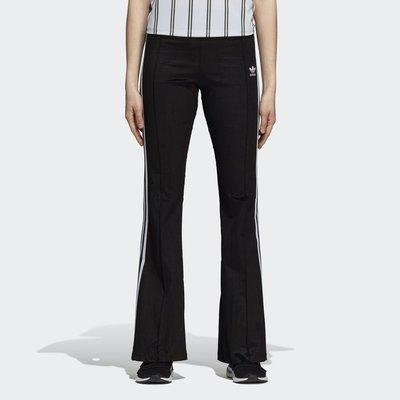 日本代購 ADIDAS FLARED TRACK TROUSERS 黑色 喇叭褲(Mona)