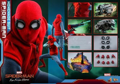 Hottoys 1:6 Spiderman Far From Home homemade suit