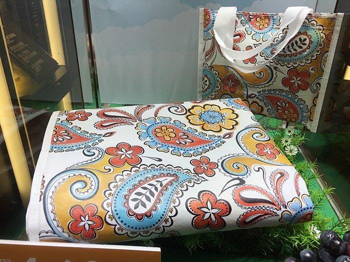 SOGO天母店消費來店禮 漾彩時尚野餐墊/防潮墊/地墊/遊戲墊 /帳棚內地布 收納附提袋 尺寸:90x120cm