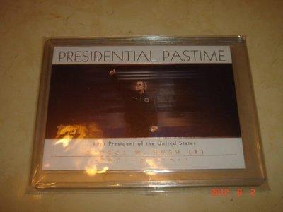 美國總統 George W. Bush 布希 2004 Topps President Pastime #PP42 球員卡