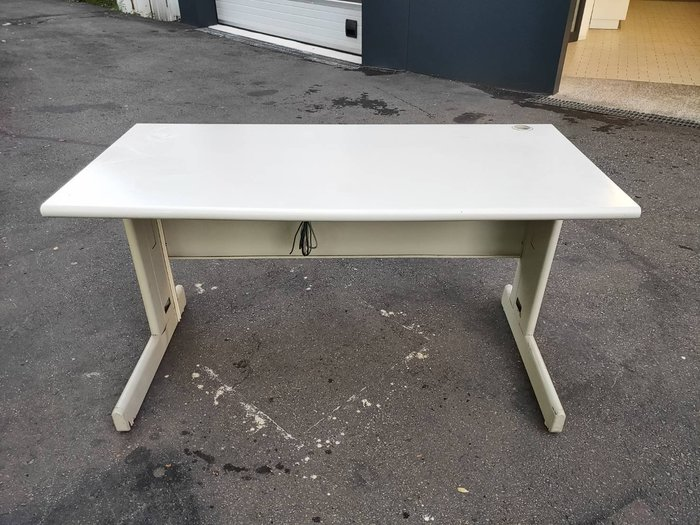 非凡二手家具 140cm 乳白辦公桌*會議桌*接待桌*洽談桌*辦公桌*電腦桌*吃飯桌*收納桌*工作桌*寫字桌
