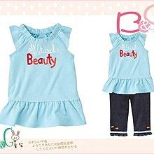 【B& G童裝】正品美國進口GYMBOREE 藍色女生裙襬式短袖上衣12-18mos,2,3,5yrs