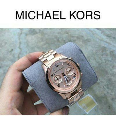 【現貨】正品 經典 Michael Kors 玫瑰金 MK5128 三眼計時 手錶 MK MK錶 MK手錶