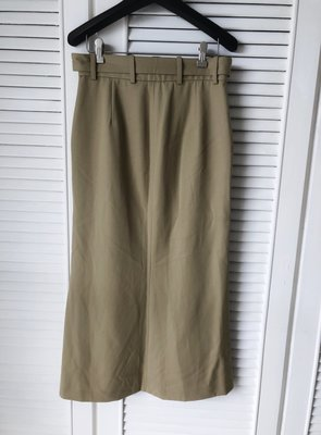 【Ralph Lauren 】駝色羊毛直筒長裙