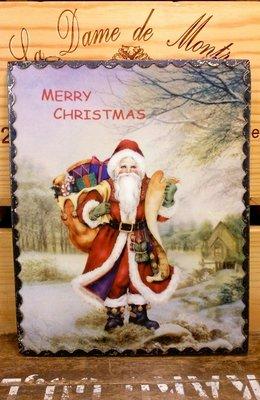 聖誕老公公陶瓷名信片掛畫:聖誕節 老公公 陶瓷 名信片 掛畫 居家 家飾 裝潢 設計 收藏 禮品