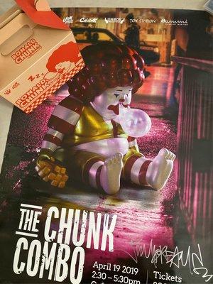 UNBOX Ronald Chunk Jim dreams 吉盒一個& THE CHUNK COMBO 限量簽名海報