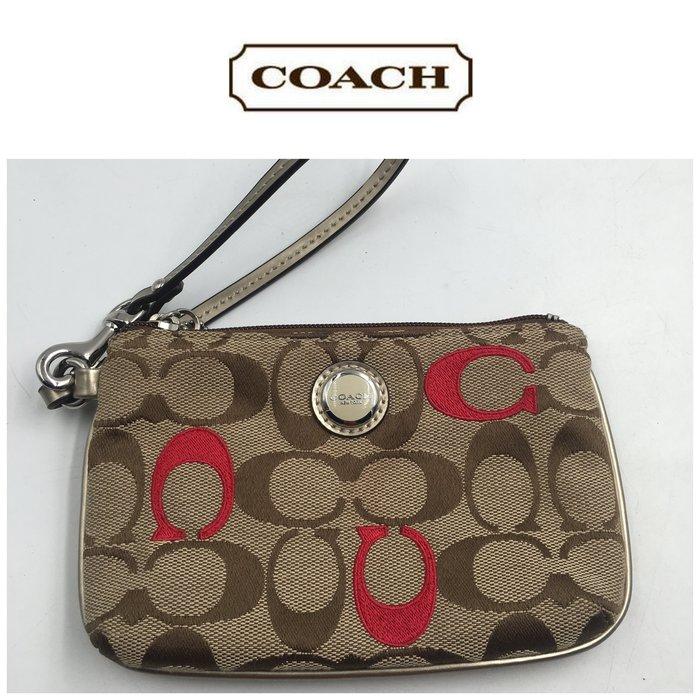 【皮老闆二店】二手真品 Coach 皮夾 證件包 手拿包 L111
