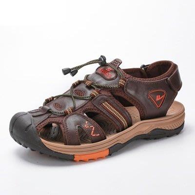 涼 鞋 真皮拖鞋-夏季清涼透氣舒適男鞋子4色73sa7[獨家進口][米蘭精品]