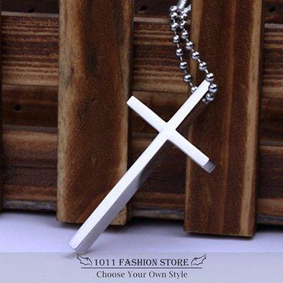 簡約 西德鋼十字架項鍊 鈦鋼 十字架項鍊 項鍊 男性項鍊 女性項鍊 不鏽鋼項鏈 特價 熱賣 基本款