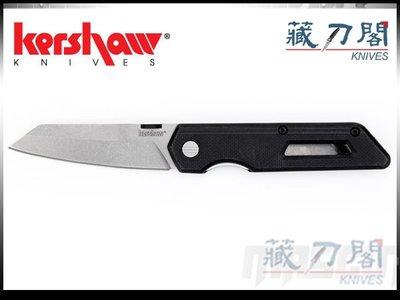 《藏刀閣》KERSHAW-(2050)MIXTAPE-石洗刃玻璃纖維尼龍柄折刀