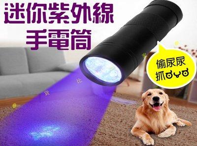 迷你紫外線手電筒 修補液固化燈 液壓檢漏 UV膠固化專用 貓蘚 寵物真菌檢測燈 狗尿探測 小孩尿床 清潔劑殘留