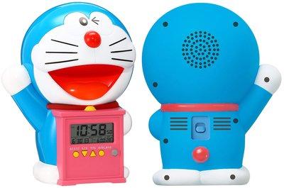 日本正版 Rhythm 麗聲 哆啦A夢 語音 鬧鐘 桌鐘 時鐘 JF374A 日本代購