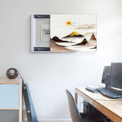 全館免運~特價-不退不換,壁畫電表箱裝飾畫配電箱可推拉遮擋壁畫 雪兒物語