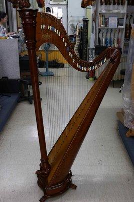 皇家二手樂器~中古展示法國CAMAC PRODUCTION 38弦豎琴
