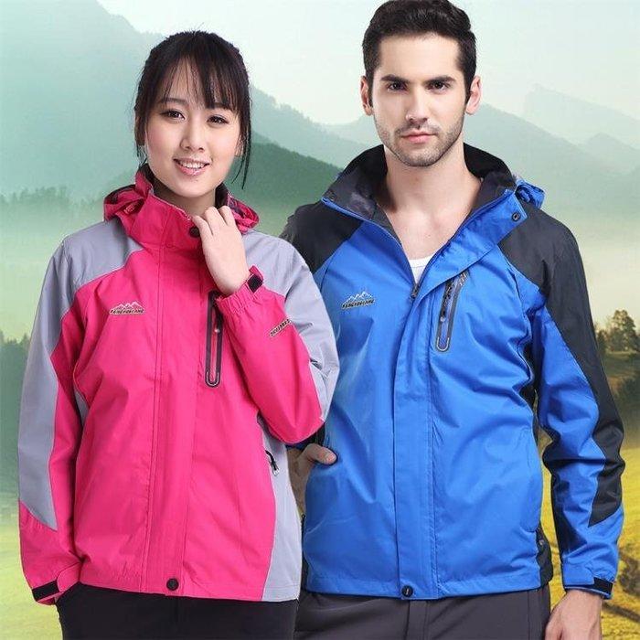 單層沖鋒衣女薄款防水男大碼透氣戶外登山服情侶四季風衣外套  戶外休閒 雨衣雨具
